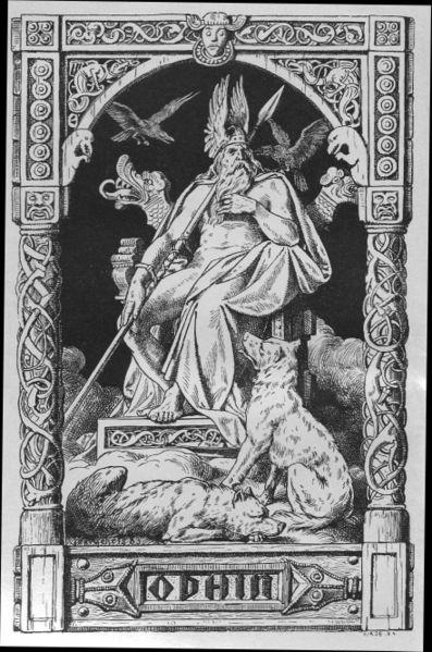 Odin auf dem Hlidskialf.