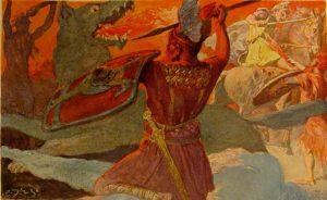 Odin und Fenris.